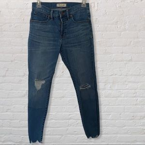 """Madewell 9""""High Rise Skinny 27 P Jeans Destroyed"""